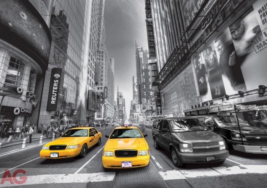 Fototapeta AG Žluté taxi FTS-1310 | 360x254 cm - Fototapety na zeď