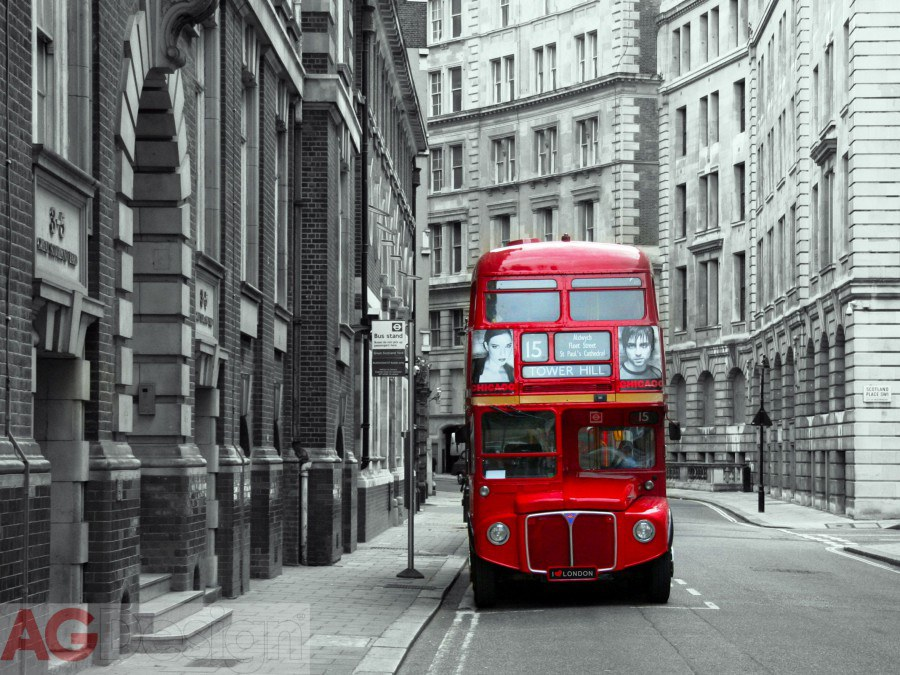 Fototapeta AG London bus FTNXXL-1132 | 360x270 cm