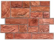 3D obkladový PVC panel pískovec tmavě červený DP0002 Obkladové 3D panely