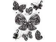 Samolepka na zeď Motýli černí F-0459, 85x65 cm Samolepící dekorace na zeď