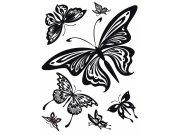 Samolepka na zeď Černí Motýli semiš FL-0483, 85x65 cm Samolepící dekorace na zeď