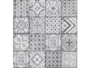 Vinylová tapeta Ceramics šedý patchwork 270-0177   šíře 67,5 cm Tapety skladem