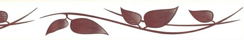 Samolepící bordura Fialové listy SB02-404, rozměry 5 cm x 10 m - Samolepící bordury