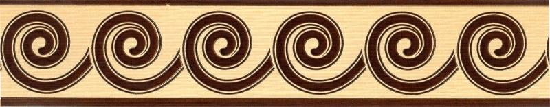 Samolepící bordura Hnědé spirály SB02-11S, rozměry 5 cm x 10 m - Samolepící bordury