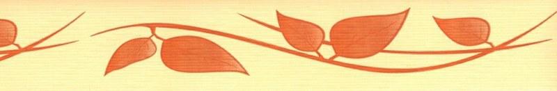 Samolepící bordura Oranžové listy SB02-403, rozměry 5 cm x 10 m - Samolepící bordury