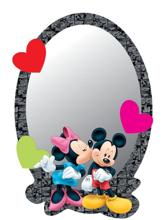 Dekorace zrcadlo Minnie a Mickey DM-2108, 15x22 cm - Dětské dekorace na zeď