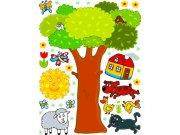Samolepicí dekorace Strom K-1044, 85x65 cm Dětské samolepky na zeď
