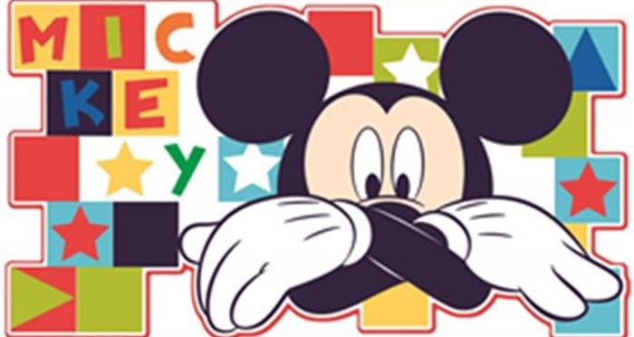 Dekorace Mickey Mouse D23501, 30x60 cm - Dětské dekorace na zeď