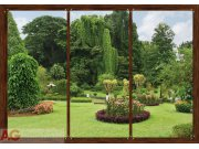 Fototapeta AG Okno do zahrady FTS-1314 | 360x254 cm Fototapety na zeď