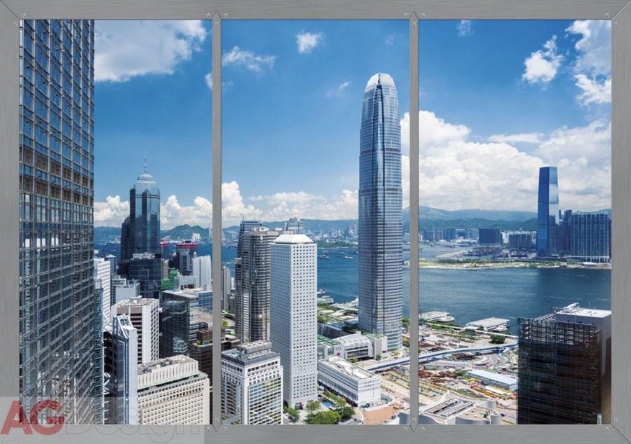 Papírová fototapeta Window in city AG design FTS-1318, rozměry 360 x 254 cm