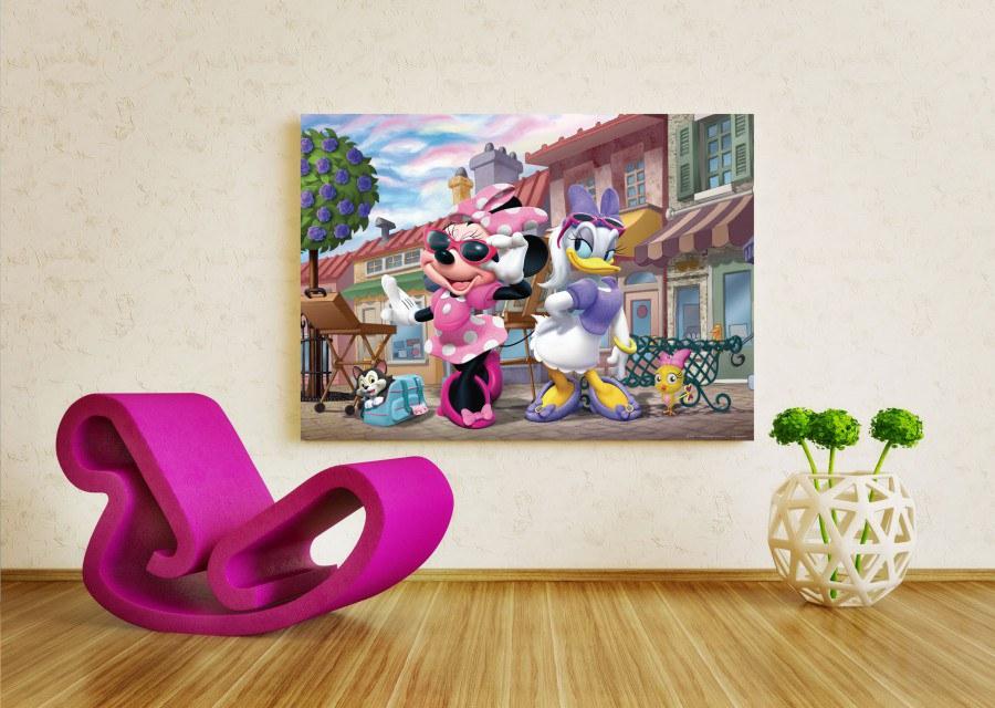 Dětská papírová fototapeta AG Design Minnie a Daisy FTDM-0722, rozměry 160 x 115 cm