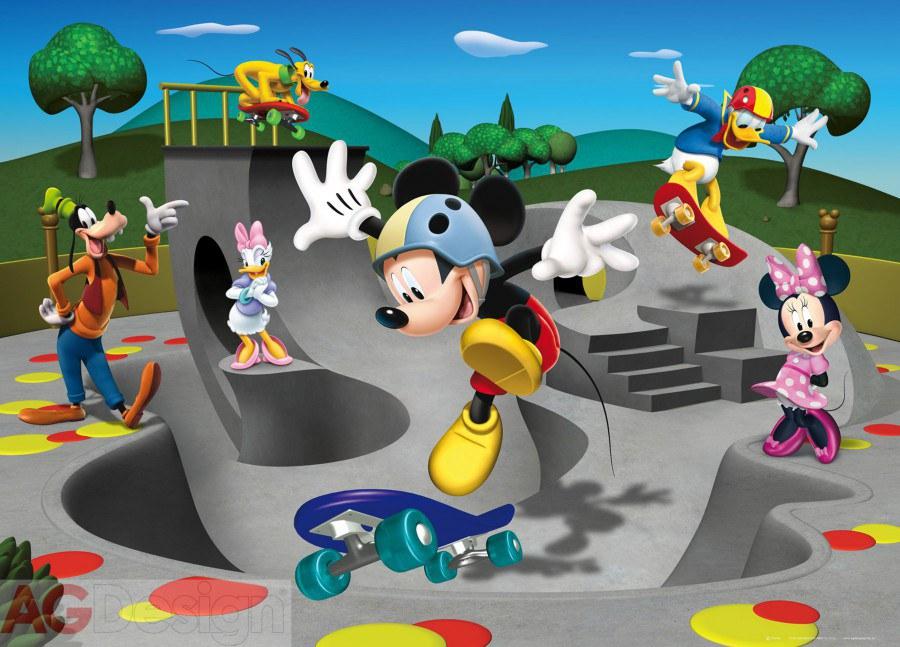 Dětská papírová fototapeta AG Design Mickey freestyle FTDM-0723, rozměry 160 x 115 cm