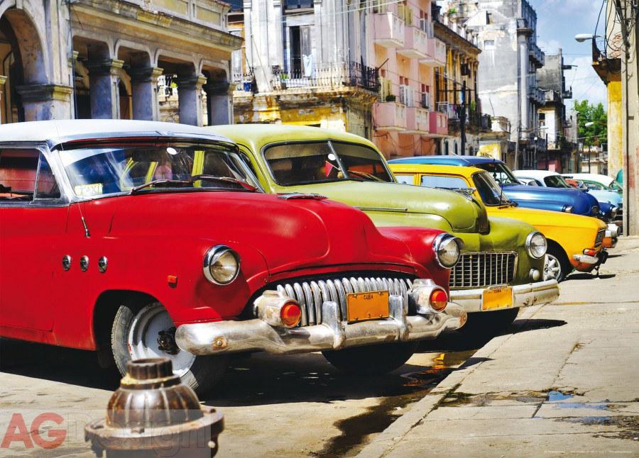 Vliesová fototapeta AG Design Cuba cars FTNM-2603, rozměry 160 x 110 cm