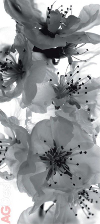 Vliesová fototapeta Černobílá Květiny FTNV-2863   90x202 cm - Vliesové fototapety AG