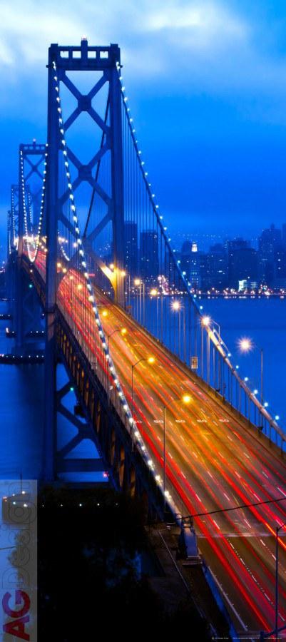 Fototapeta AG Night Bridge FTV-1517   90x202 cm - Fototapety na dveře