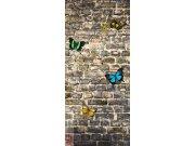 Vliesová fototapeta Butterfly on the Wall FTNV-2905 | 90x202 cm Fototapety vliesové - Vliesové fototapety AG