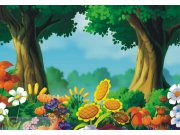 Fototapeta AG 3D Les a louka FTNXXL-0402 | 360x270 cm Fototapety pro děti