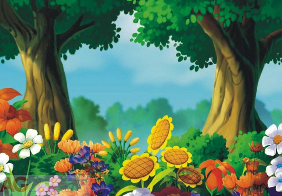 Fototapeta AG 3D Les a louka FTNXXL-0402 | 360x270 cm - Fototapety pro děti