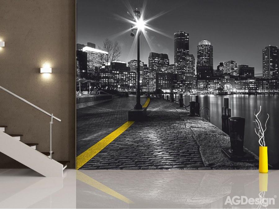 Fototapeta AG Noční město FTS-1317 | 360x254 cm - Fototapety na zeď