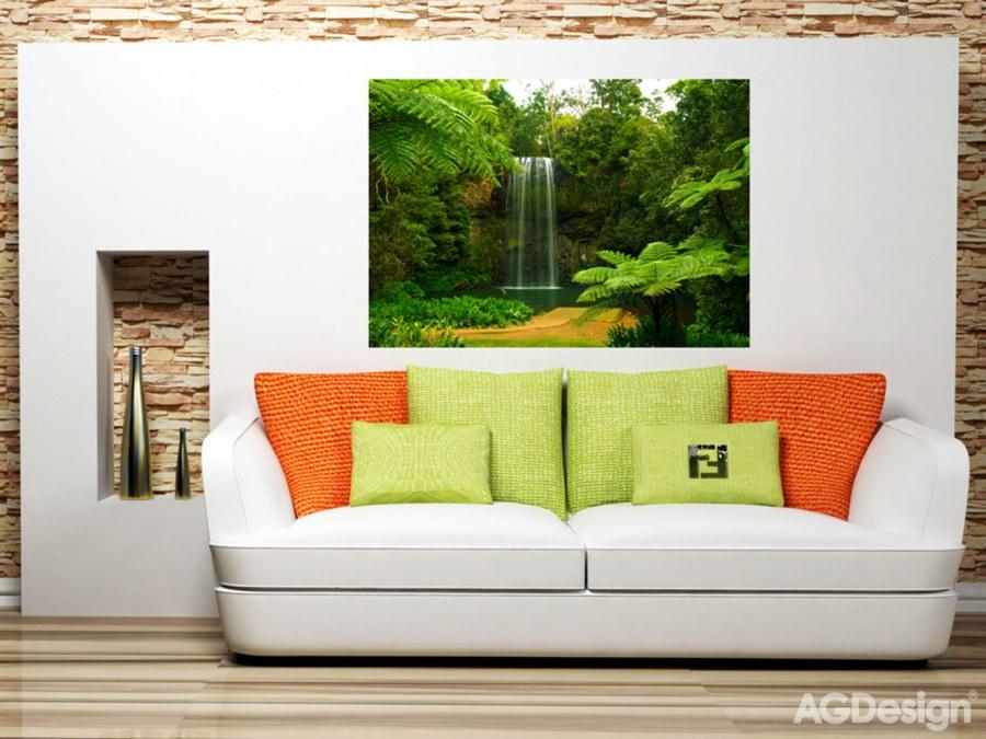 Fototapeta AG Lesní vodopád FTSS-0834 | 180x127 cm - Fototapety na zeď