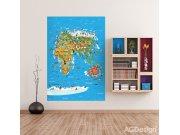 Fototapeta AG Mapa Světa FTNXL-2540 | 180x202 cm Fototapety pro děti