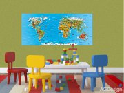 Fototapeta AG Mapa světa FTNH-2731 | 202x90 cm Fototapety pro děti