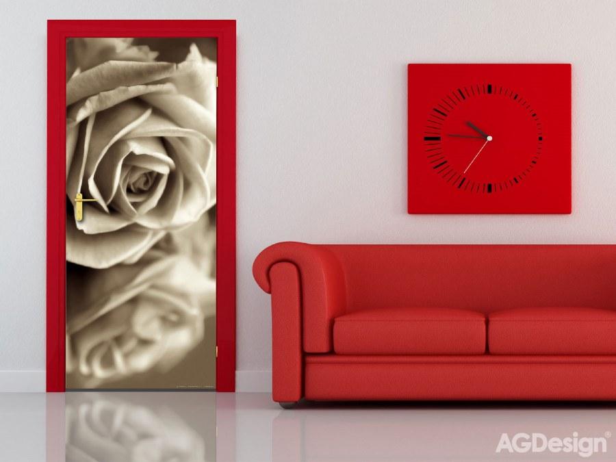 Vliesová fototapeta Sepia Rose FTNV-2894 | 90x202 cm - Vliesové fototapety AG