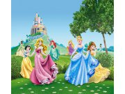 Fotozávěs Princezny u zámku FCSXL-4319, 180 x 160 cm Závěsy do dětského pokoje