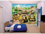 3D fototapeta Walltastic Moje první JCB 43787 | 305x244 cm Fototapety pro děti