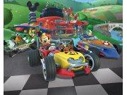 3D fototapeta Mickey Mouse závody Walltastic 45293 | 305 x 244 cm Fototapety pro děti