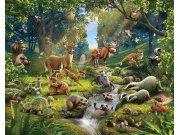 3D fototapeta Walltastic Zvířátka z lesa 43060 | 305x244 cm Fototapety pro děti