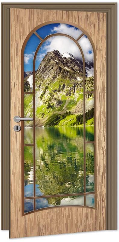 Samolepící fototapeta na dveře DL017 Light door, 95x210 cm - Fototapety na dveře