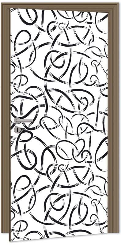 Samolepící fototapeta na dveře DL040 Abstract lines, 95x210 cm - Fototapety na dveře