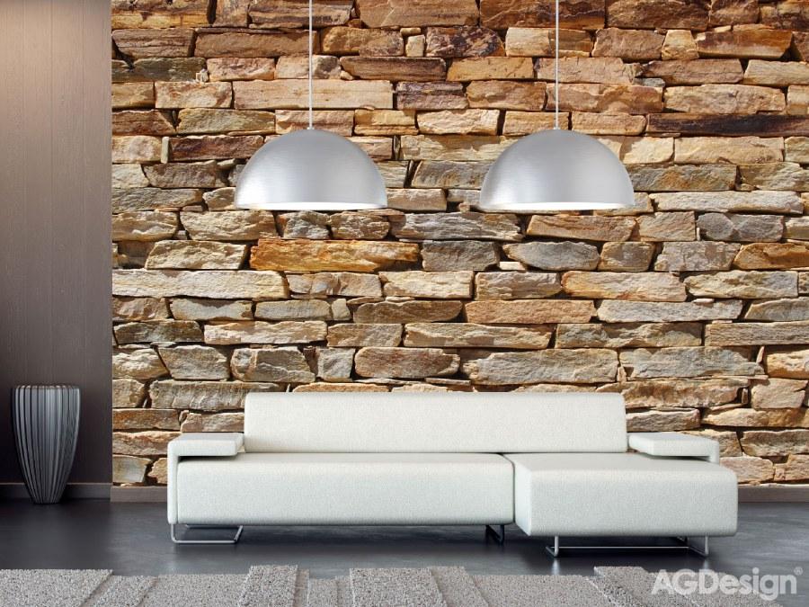 Fototapeta AG na zeď Kamenná zeď FTS-1319 | 360x254 cm - Fototapety skladem