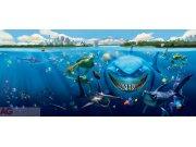 Vliesová fototapeta Nemo a Žralok FTDNH-5313 | 202x90 cm Fototapety pro děti