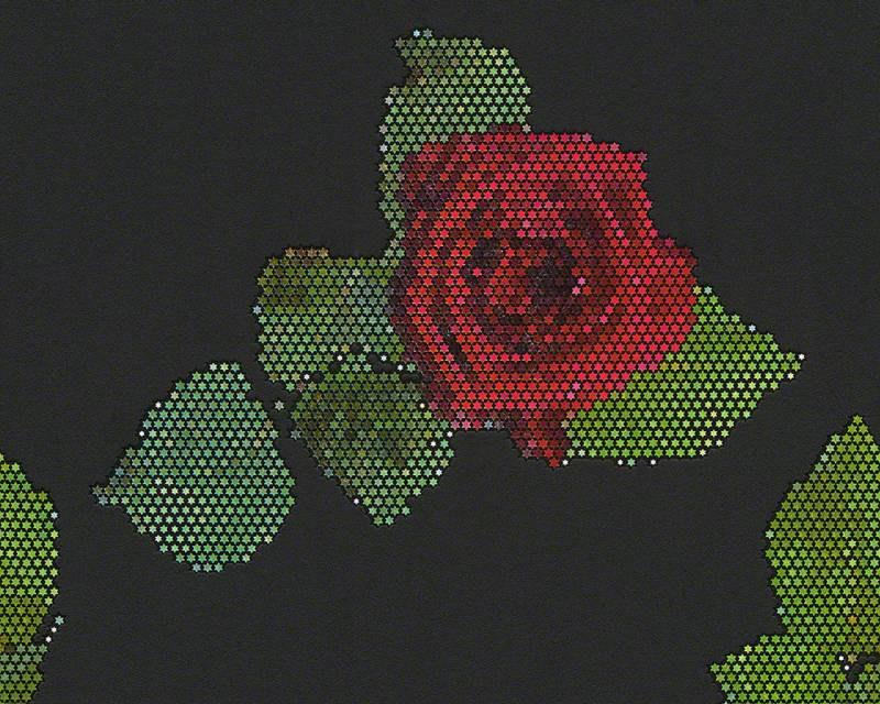 Vliesové tapety na zeď mozaika růže 94407-3, rozměry 0,53 x 10,05 m - Výprodej