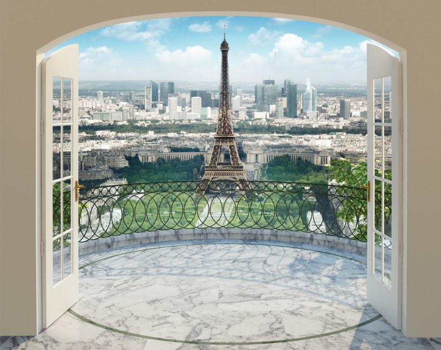 3D fototapeta Walltastic Paříž 43589   305x244 cm - Fototapety skladem