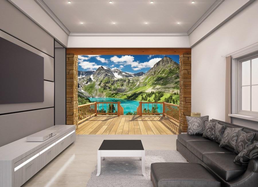 3D fototapeta Walltastic Alpy 43619   305x244 cm - Fototapety pro děti