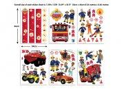 Samolepicí dekorace Walltastic Požárník Sam 43213 Dětské samolepky na zeď
