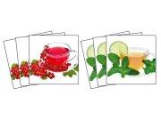 Samolepicí dekorace na kachličky Cup of Tea TI-002, 6ks Nálepky na kachličky