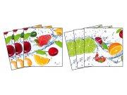 Samolepicí dekorace na kachličky Fruits TI-003, 6ks Nálepky na kachličky