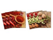 Samolepicí dekorace na kachličky Chilli and Pepper TI-005, 6ks Nálepky na kachličky