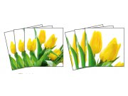 Samolepicí dekorace na kachličky Tulips TI-008, 6ks Nálepky na kachličky