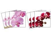 Samolepicí dekorace na kachličky Orchids TI-011, 6ks Nálepky na kachličky