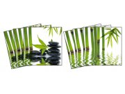 Samolepicí dekorace na kachličky Zen TI-012, 6ks Nálepky na kachličky