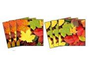 Samolepicí dekorace na kachličky Leaves TI-014, 6ks Nálepky na kachličky