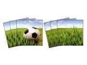 Samolepicí dekorace na kachličky Football TI-015, 6ks Nálepky na kachličky