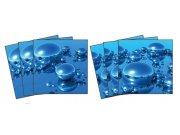 Samolepicí dekorace na kachličky Drops TI-016, 6ks Nálepky na kachličky