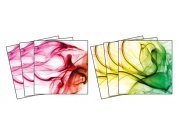 Samolepicí dekorace na kachličky Smoke TI-017, 15x15 cm Samolepky na kachličky
