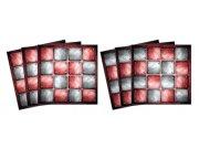 Samolepicí dekorace na kachličky Metal TI-019, 6ks Nálepky na kachličky